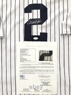 NEW YORK YANKEES DEREK JETER signed 2008 FINAL SEASON YANKEE STADIUM JERSEY JSA