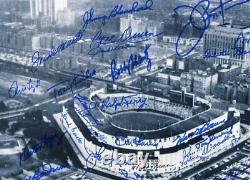 NEW YORK YANKEES GREATS 11x14 Yankee Stadium photo signed by 26 Yankee Greats
