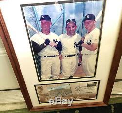 NEW YORK YANKEE STADIUM authentic part of original Yankee History Yogi, the Babe