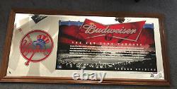 NEW YORK Yankees STADIUM BUDWEISER BAR MIRROR 2006 MLB Beer 43x21