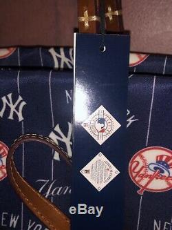 NWT Dooney & Bourke MLB New York Yankees Addison Tote Bag +Stadium Wristlet $348