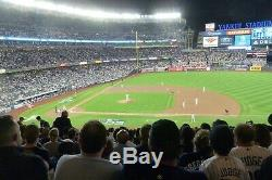 NY Yankees ALCS Home Game 2 Date TBD 2 or 4 Tickets Sec 215 row 17
