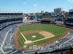 NY Yankees Boston Redsox Stadium Sat 8/3 7pm 2-4 Tickets Sec 419 Row 8