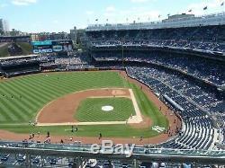 NY Yankees Boston Redsox Yankee Stadium Sat 8/3 1PM 2 Tickets Sec 423 Row 8