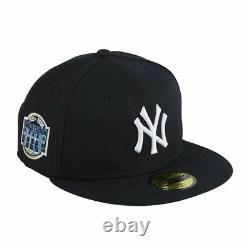 New Era 59Fifty New York Yankees Stadium Patch Navy Icy Light Blue UV Hat 7 5/8
