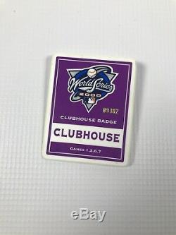 New York Mets New York Yankees 2000 World Series Yankee Stadium Clubhouse Badge