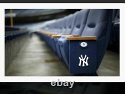 New York Yankee NYY Stadium Seat TEAK ARMRESTS Wood ART PROJECT KNIFE HANDLE PEN