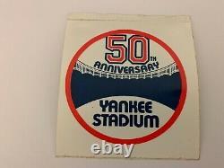 New York Yankee Stadium 50th Anniv Brass Seat Nameplate Section Plaque Uniform