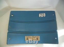 New York Yankee Stadium Game Used Seat Back #20