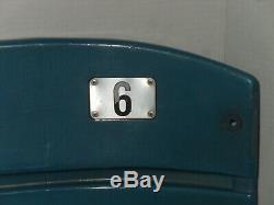 New York Yankee Stadium Game Used Seat Back #6 Mlb Authenticated