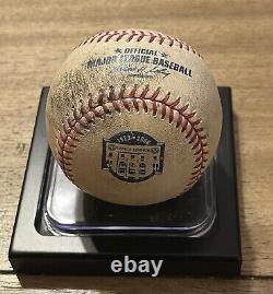 New York Yankees 08 Final Season at Yankee Stadium Game Ball Jeter Foul Ball