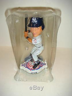 New York Yankees 100th Anniversary Stadium Exclusive Bobble Head Derek Jeter bat
