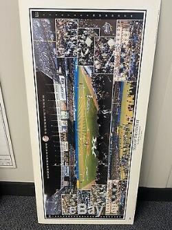 New York Yankees 1998 World Series Championship Panoramic Stadium Print ARRA