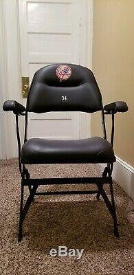 New York Yankees #34 Game Used Clubhouse Chair Steiner MLB Yankee Stadium
