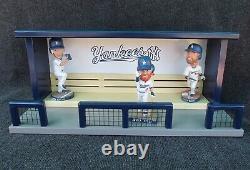 New York Yankees Baseball Bobblehead Stadium Dugout Display Case Bench