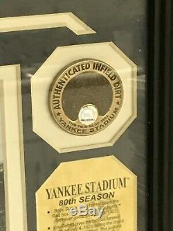New York Yankees Baseball Stadium Limited Edition /5000 24k Gold Game Used