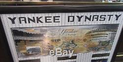 New York Yankees Dynasty Framed Jeter Ruth Gehrig Marris Mantle Stadium Picture