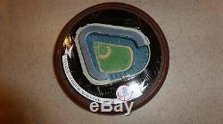 New York Yankees Stadium 1996 Hawthorne Village Sculpture Yogi Berra Signed