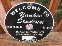 New York Yankees Stadium Baseball Heavy Porcelain Sign 12