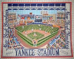 New York Yankees Stadium Baseball Sports HP Handpainted Needlepoint Canvas GJ