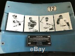 New York Yankees Stadium Seat Back From Original Yankee Stadium, Core 4 Players