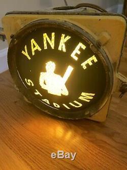New York Yankees Stadium Street Light Original From Yankee Stadium Very Rare