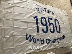 New York Yankees Stadium-used 1950 Champs Flag Dimaggio Berra Jeter