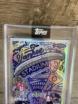 New York Yankees Topps x EFDOT 2020 YANKEE STADIUM Series RAINBOW FOIL Card #1