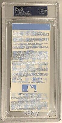 New York Yankees World Series Owners Box! FULL Ticket George Steinbrenner PSA