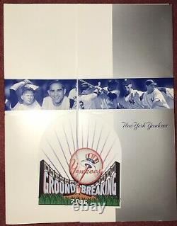 New York Yankees Yankee Stadium Ground Breaking Shovel & Press Package Aug. 2006