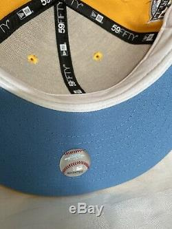 New York Yankees Yellow Yankee Stadium Liberty Sky Blue Bottom Fitted Size 7 1/2