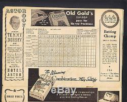 New York Yankees vs Cleveland Indians August 24 1940 Game Program Yankee Stadium