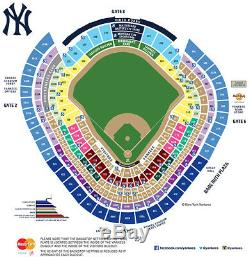 New York Yankees vs New York Mets 705 Aisle Seats Row 2 6/11 Outfield action
