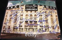 New york yakees multi signed yankee stadium photo 11 x 14 27 signatures