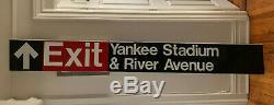 Nyc Subway Sign New York Train Yankee Stadium Exit Authentic Rare Art Babe Ruth