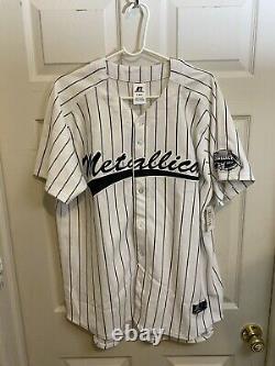 Official Metallica 2011 New York Yankee Stadium Baseball Jersey Big 4 Show