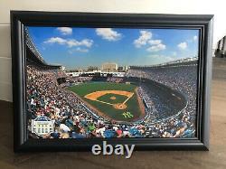 Old New York Yankee Stadium Canvas Print 18 X 25 Mlb Authentic