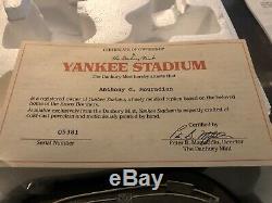 Old New York Yankees Stadium The Danbury Mint Styrofoam Packaging COA CARD