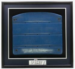 Original New York Yankees Seat Bottom From Yankees Stadium Shadowbox Steiner