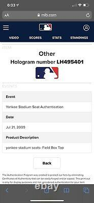 Original New York Yankees Stadium Seats Mlb Authenticated Ruth Jeter Mantle