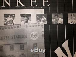 Original Yankee Stadium Blueprint New York Yankees -Ruth Gehrig -Mantle -Jeter