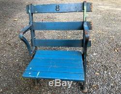 Original Yankee Stadium Wood Seat Iron Sides Baseball Yankees New York Yanks