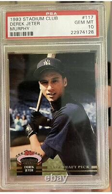 PSA 10 DEREK JETER 1993 Stadium Club Murphy #117 Rookie RC HOF New York YANKEES