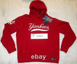 Polo Ralph Lauren Stadium 1992 Red Polo New York Yankees Hoodie Large L palace