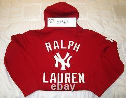 Polo Ralph Lauren Stadium 1992 Red Polo New York Yankees Hoodie Medium M palace