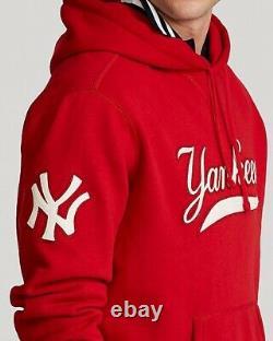 Polo Ralph Lauren Stadium 1992 Red Polo New York Yankees Hoodie XLarge AUTHENTIC