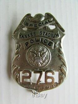 Rare 1950's New York Yankee Stadium Special Police Badge Original EA157