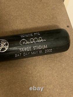 Rare 2002 Sga Derek Jeter Ny New York Yankees Stadium Basebal Bat Day