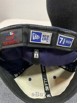 Rare Custom 59fifty new york yankees denim stadium embroidered fitted 7 5/8 hat