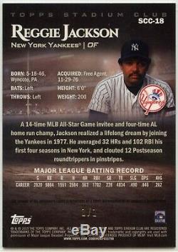 Reggie Jackson Auto Superfractor 1/1 2019 Stadium Club Chrome New York Yankees